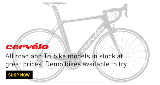Cervélo road and Tri bike models in stock
